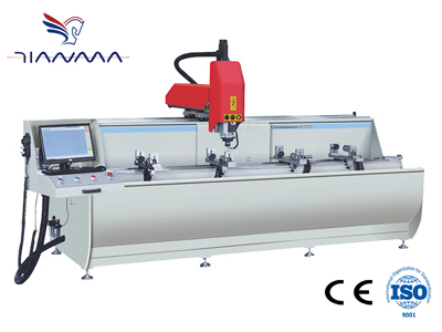 Aluminum profile 3+1 axis CNC drilling and milling Center
